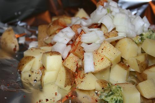Aardappel Pakketje uit de oven