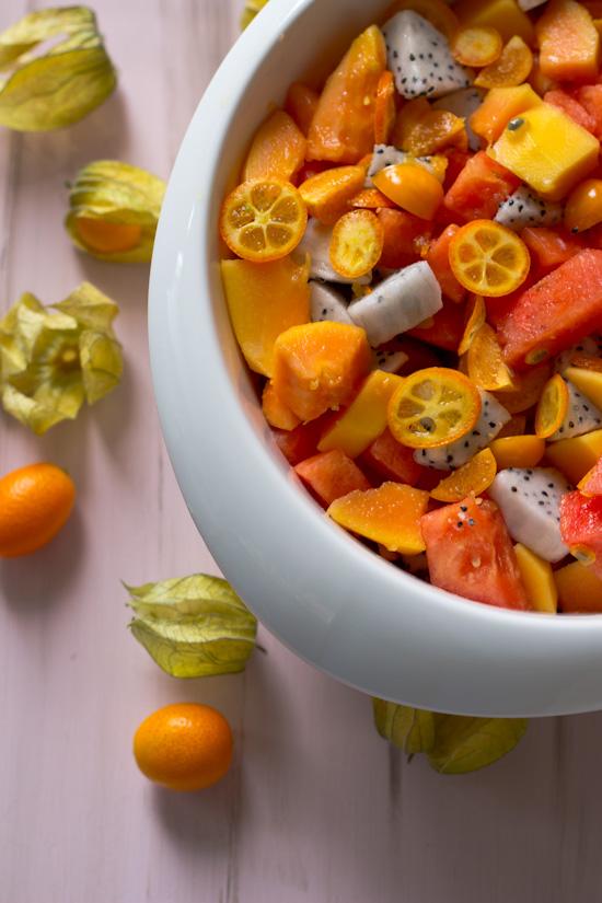Fruitsalade met kumquat recept