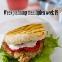 Weekplanning maaltijden week 19