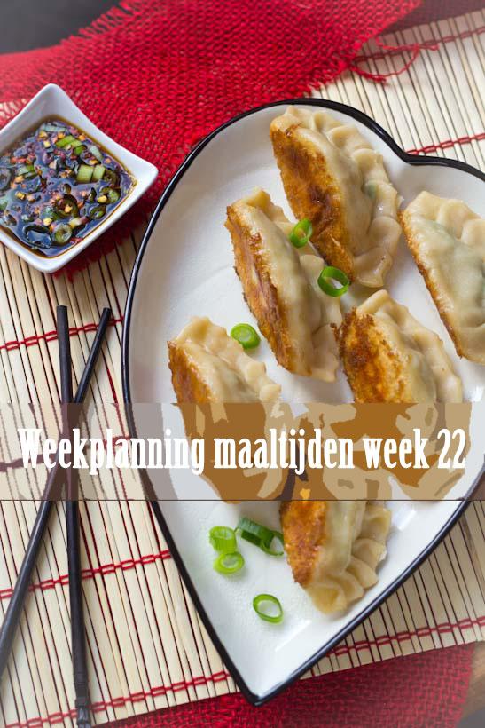 Weekplanning maaltijden week 22