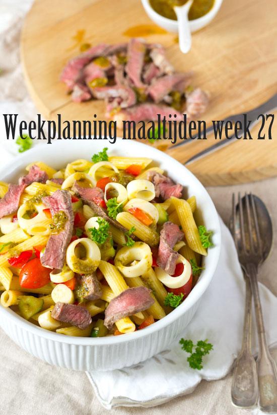 Weekplanning maaltijden week 27