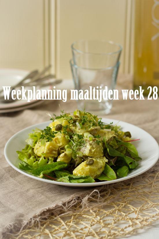 Weekplanning maaltijden week 28