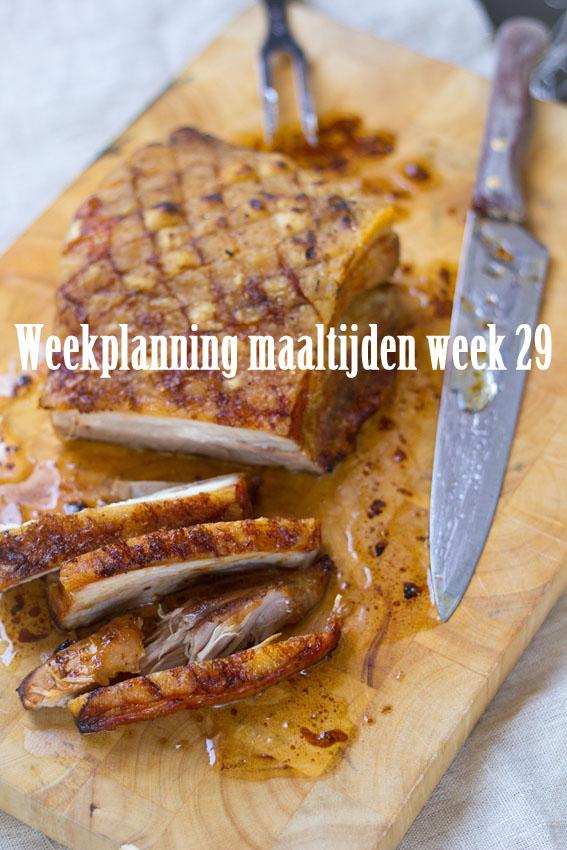 Weekplanning maaltijden week 29