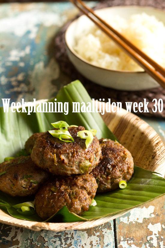 Weekplanning maaltijden week 30