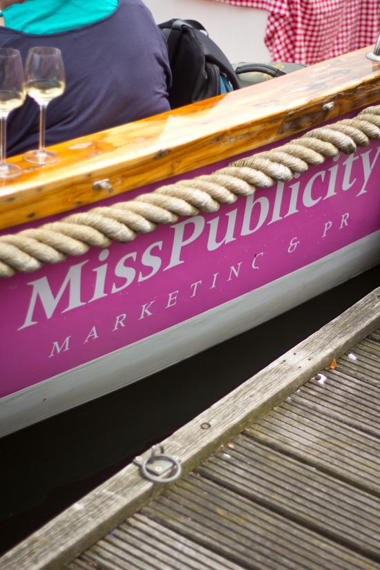 Roze boot van Miss Publicity