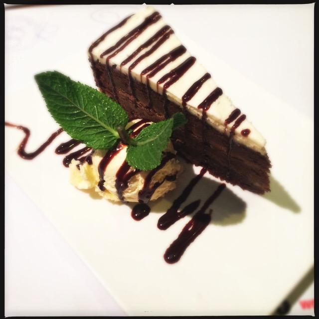 Chocolate cake Wagamama