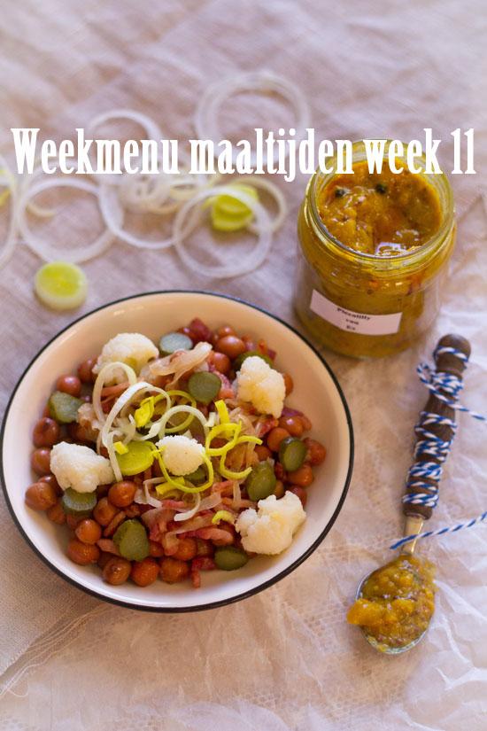 Weekmenu maaltijden week 11
