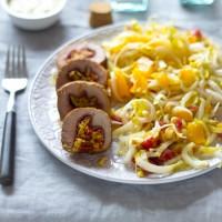 Recept gevulde bresaola gevulde varkenshaas met witlof salade