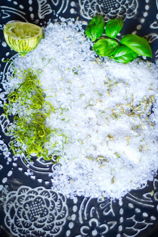 Limoen venkelzaad basilicum kruidenzout recept
