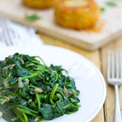 Recept simpel verse spinazie roerbakken