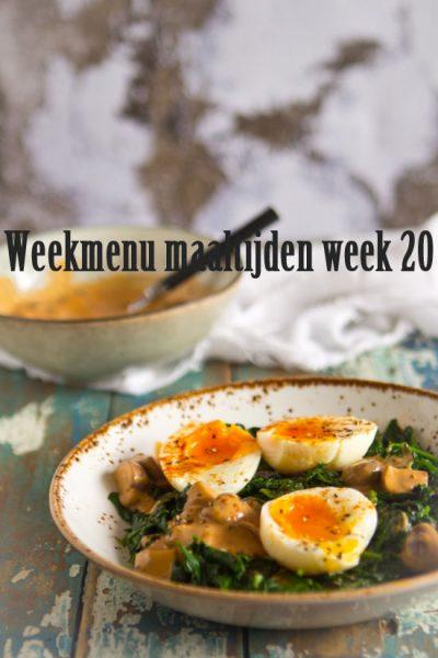 Weekmenu maaltijden week 20