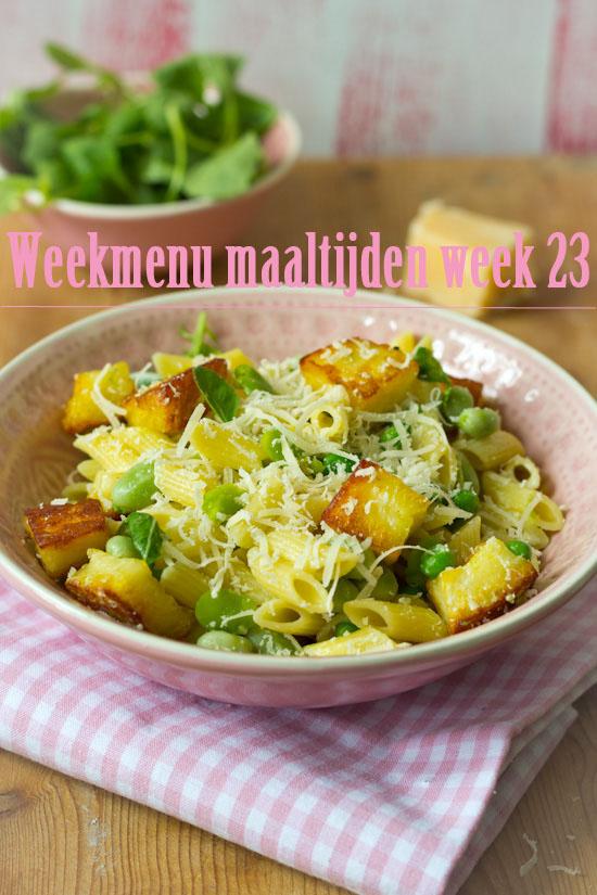 Weekmenu maaltijden week 23