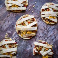 Halloween recept mummie tortilla