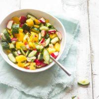 Mango radijs komkommer salade recept