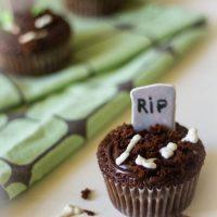 Halloween chocolade cakejes bakken recept
