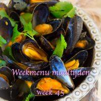 Weekmenu maaltijden week 45