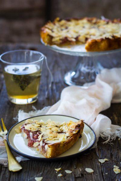 Amandel frambozenjam taart recept