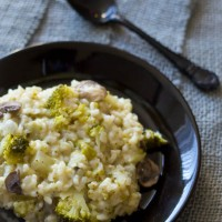 Recept risotto met broccoli en champignons