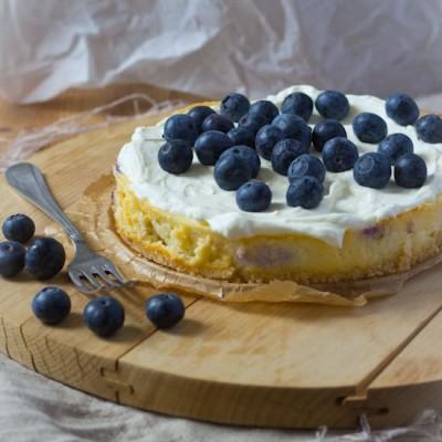 Blauwe bessen cheesecake recept