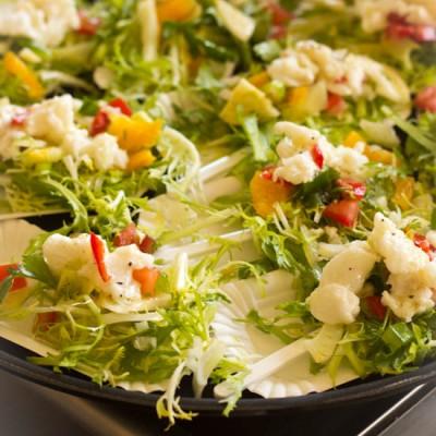 Kabeljauw ceviche in zuur gegaarde vis