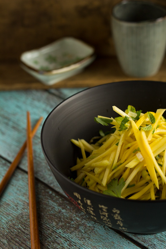 Recept groene mango salade