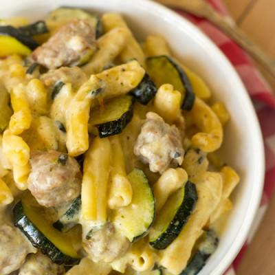 Pasta roomsaus met courgette recept