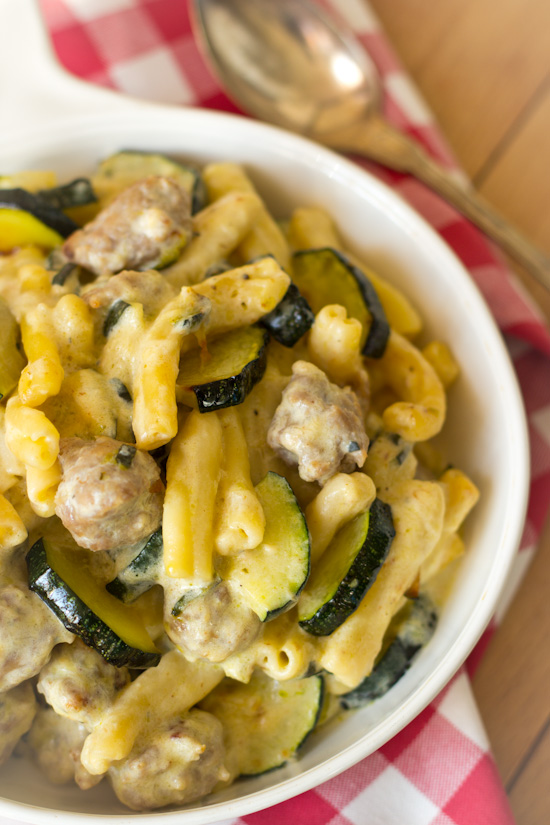 Pasta roomsaus met courgette recept