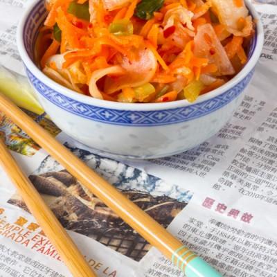 Kimchi gefermenteerde groenten recept