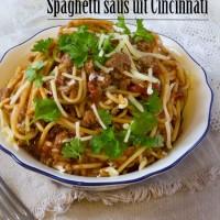 Recept spaghettisaus uit Cincinnati