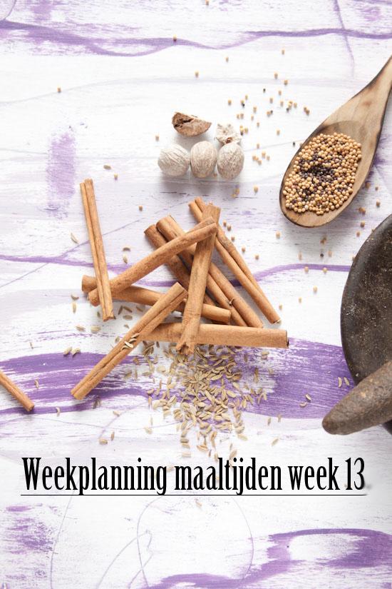 Weekplanning maaltijden week 13
