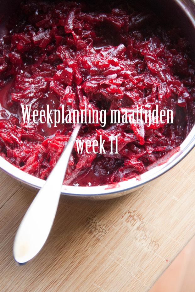 weekplanning maaltijden week 11