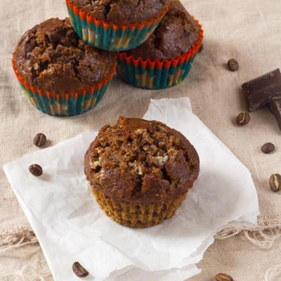 Koffie banaan chocolade ontbijt muffin