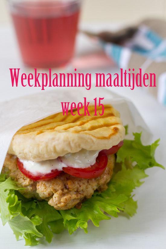 Weekplanning maaltijden week 15