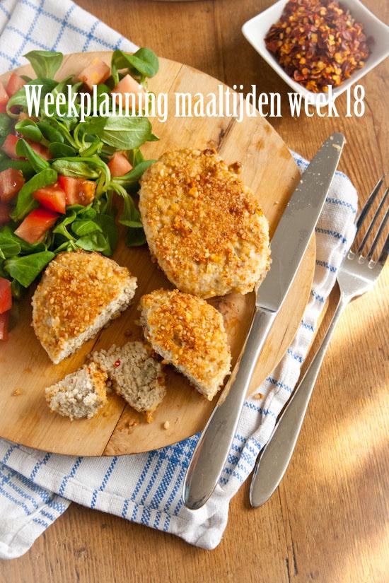 Weekplanning maaltijden week 18