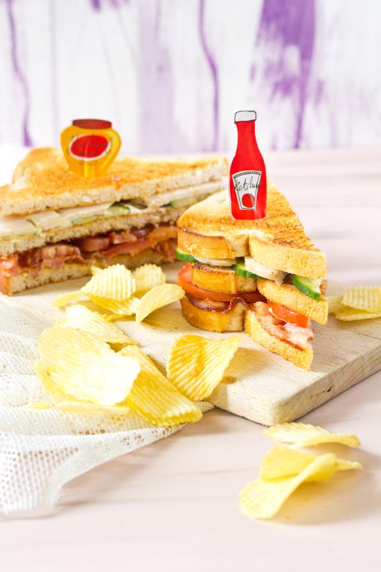 Club sandwich gerookte kip