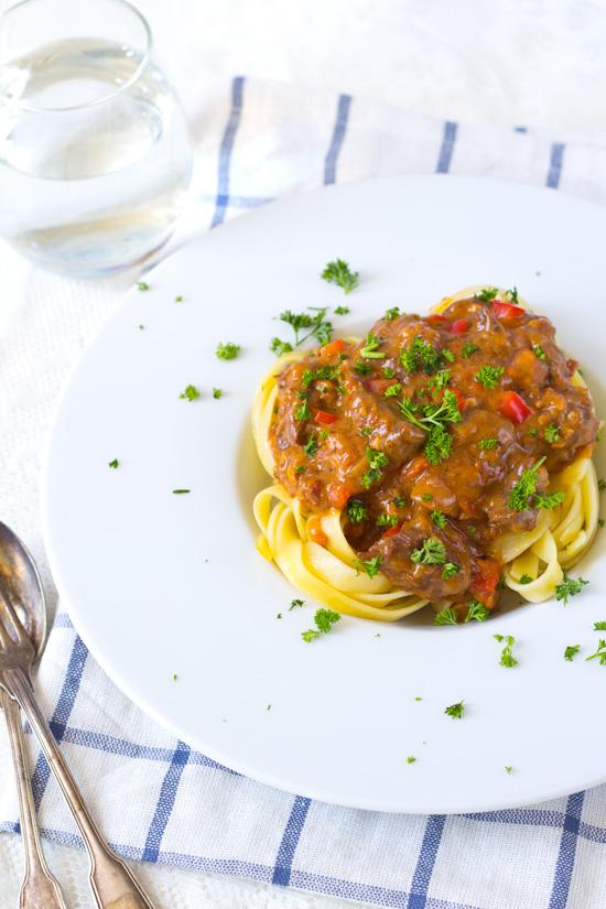 Recept stroganoff saus voor pasta