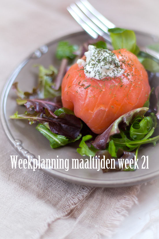 Weekplanning maaltijden week 21