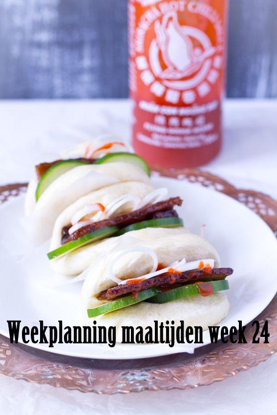 Weekplanning maaltijden week 24