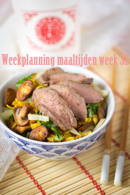 Weekplanning maaltijden week 32