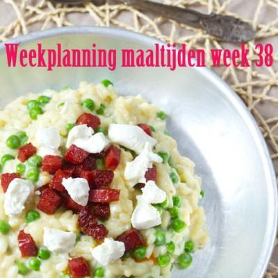 Weekplanning maaltijden week 38
