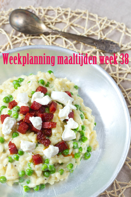 Weekplanning maaltijden week 38