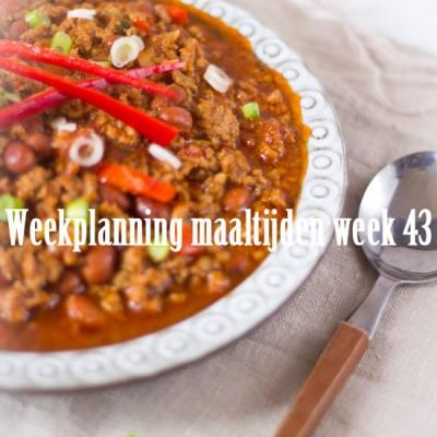 Weekplanning maaltijden week 43