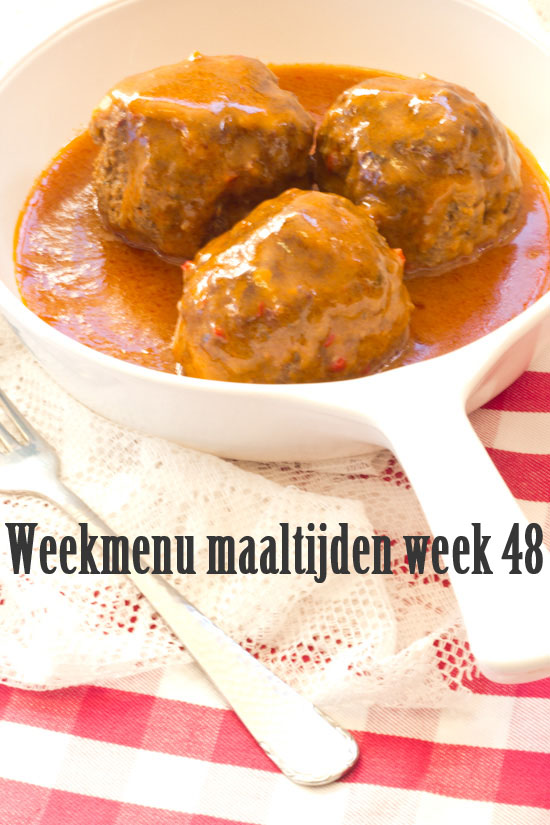 Weekmenu maaltijden week 48