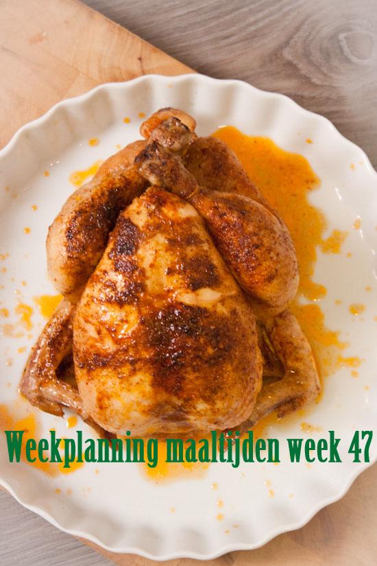 Weekplanning maaltijden week 47