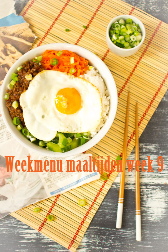 Weekmenu maaltijden week 9