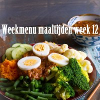 Weekmenu maaltijden week 12
