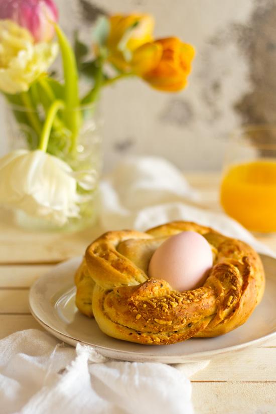 Broodje ei bakken voor Moederdag