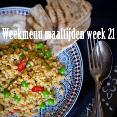 Weekmenu maaltijden week 21