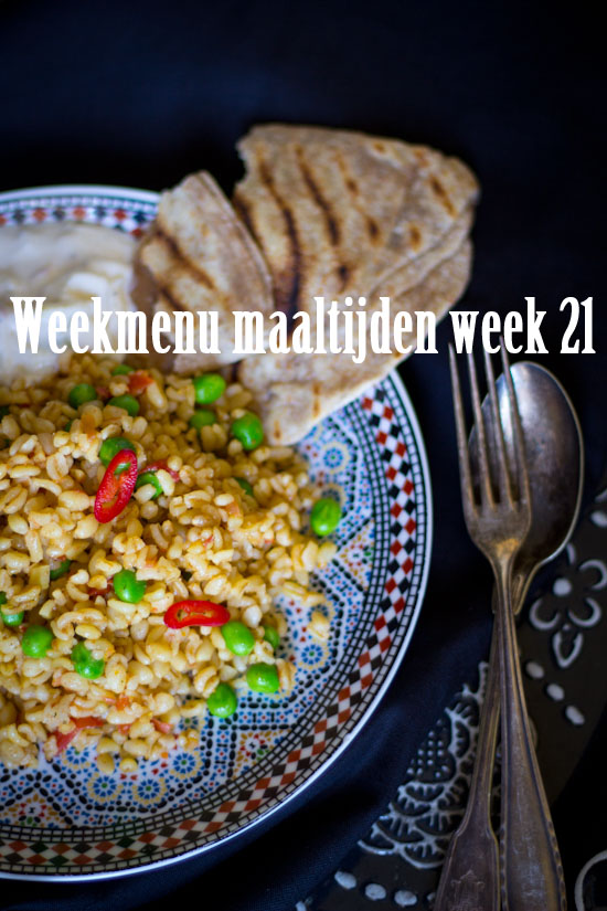 Weekmenu maaltijden week 21