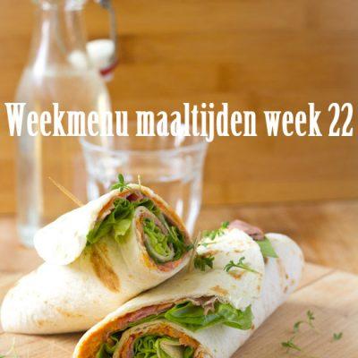 Weekmenu maaltijden week 22
